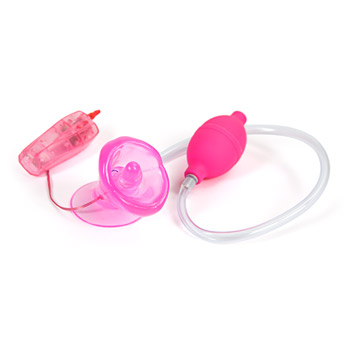Naughty kisser hands free vibrating clitoral pump