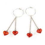 Asian Hearts Nipple Rings