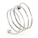 Silver Spiral Ring